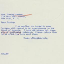 Letter: 1939 December 7