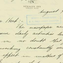 Letter: 1940 August 9