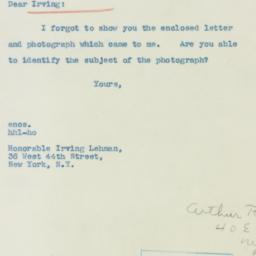 Invitation: 1940 November 6
