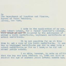 Letter : 1936 July 16