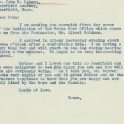 Letter : 1937 May 17