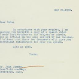 Letter : 1938 May 24