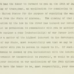 Letter : 1865 February 1