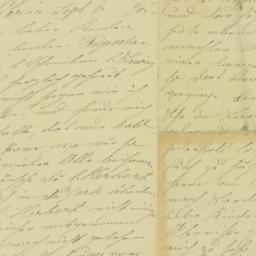 Letter : 1896 September 6