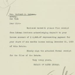 Letter : 1931 January 7