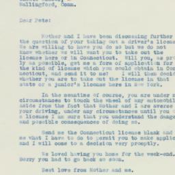 Letter : 1933 August 21