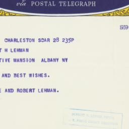 Letter : 1939 March 28