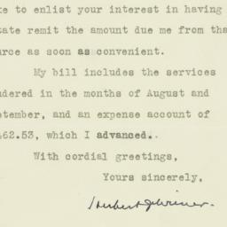 Letter: 1930 December 11
