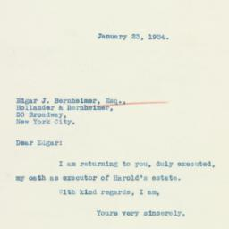Letter : 1934 January 23