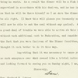 Letter: 1931 October 1