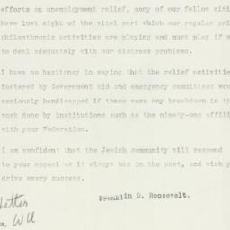 Letter : 1932 October 12