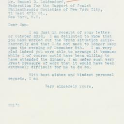 Letter: 1935 October 25