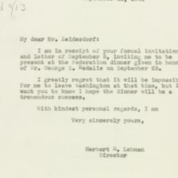 Letter : 1943 September 11