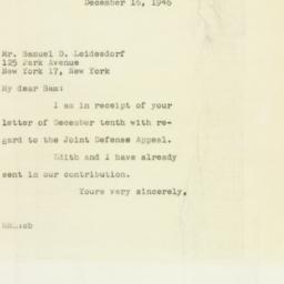 Letter : 1946 December 16