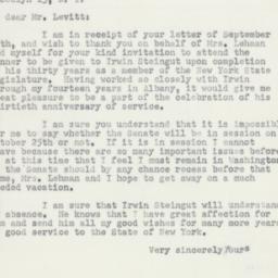 Letter : 1951 September 19