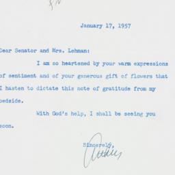 Letter : 1957 January 17