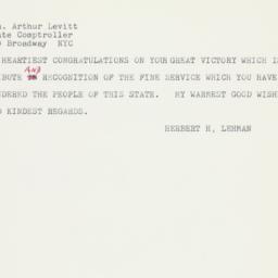 Letter : 1958 November 5