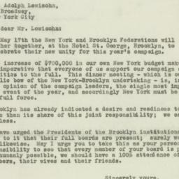 Letter : 1937 May 4