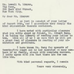 Letter : 1932 August 31
