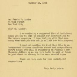 Letter : 1950 October 17