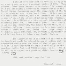 Letter : 1944 January 5