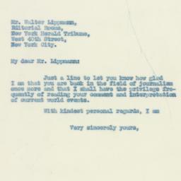 Letter : 1931 August 15