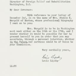 Letter : 1942 December 8