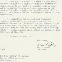 Letter : 1952 August 5