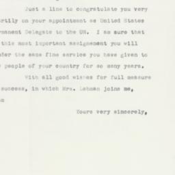 Letter : 1952 December 2