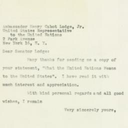 Letter : 1954 April 5