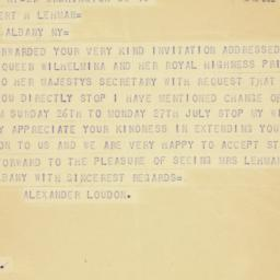 Telegram : 1942 July 11