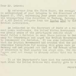 Letter : 1947 September 17