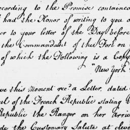 Document, 1796 November 25