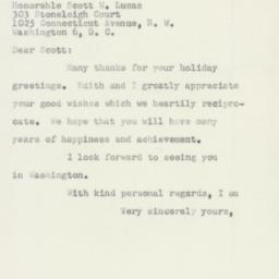 Letter : 1953 December 26