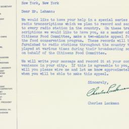 Letter: 1947 October 28