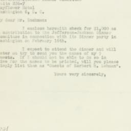 Letter: 1950 January 25