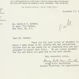 Letter : 1947 December 17