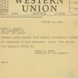 Letter : 1939 October 16