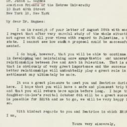 Letter : 1946 August 31