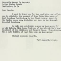 Letter: 1952 January 30
