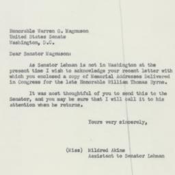 Letter : 1952 October 27