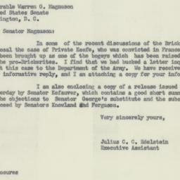 Letter : 1954 February 12