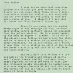 Letter : 1950 December 5