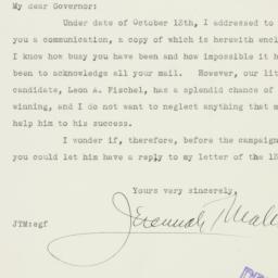 Letter : 1936 October 23