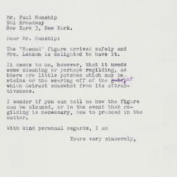 Letter : 1961 June 3
