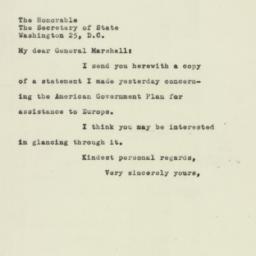 Letter : 1947 July 1