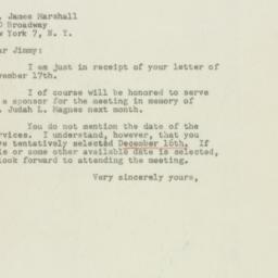 Telegram : 1948 November 19