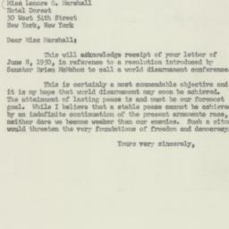 Letter: 1950 June 13