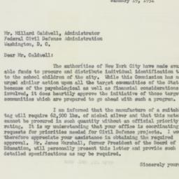 Memorandum : 1951 January 19