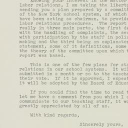 Memorandum : 1952 February 8